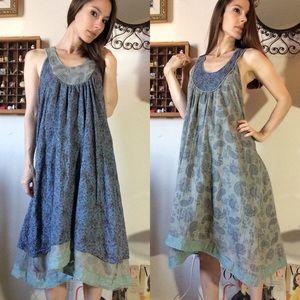 Ian Mosh Reversible Paisley Mumu Dress Grown